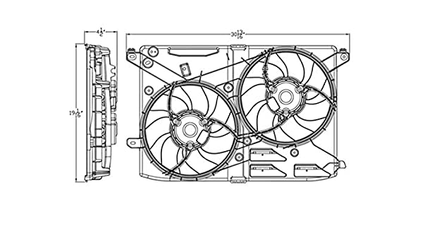 dual cooling fan wiring diagram amazon com new dual radiator and condenser fan fit ford fusion  condenser fan fit ford fusion