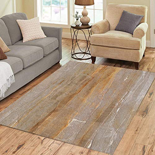 (Pinbeam Area Rug Brown Tone Light Earth Color Orange Sepia Abstract Home Decor Floor Rug 3' x 5' Carpet)