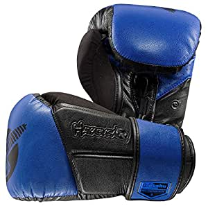 Hayabusa Fightwear Tokushu Regenesis 10oz Gloves, Black/Blue, 10 oz.