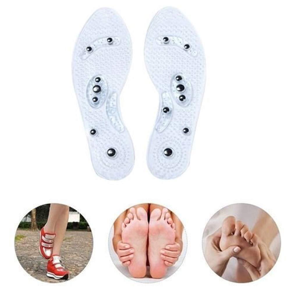 Las Plantillas magn/éticas del Zapato del pie Almohadillas del Zapato del Gel Alivia el Dolor de los pies para los Hombres Mujeres LXQGR La Plantilla del Masaje de la Terapia magn/ética