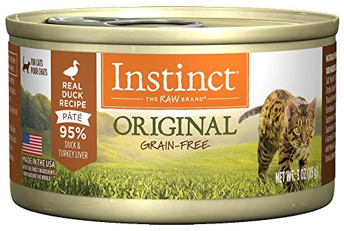 (Instinct Original Grain Free Real Duck Recipe Natural Wet Canned Cat Food By Nature'S Variety, 3 Oz. Cans (Case Of)