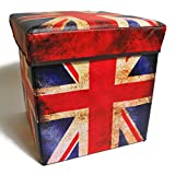 Inymall Home Interior Storage Ottoman (British Flag Design)