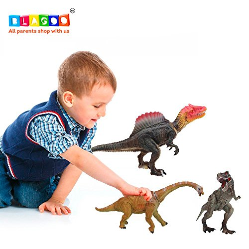 BLAGOO Dinosaur Toys with Moving Parts 3 Figures up to 9.4 inches Set (10 Facts About Halloween History)