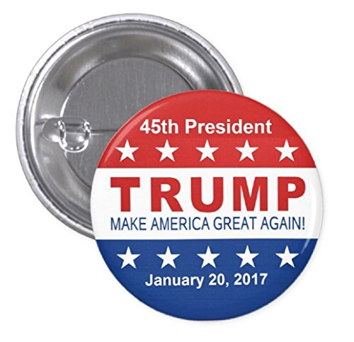 "1.25"" Pinback Button - Donald Trump 45th President January 20, 2017 Inauguration Day"