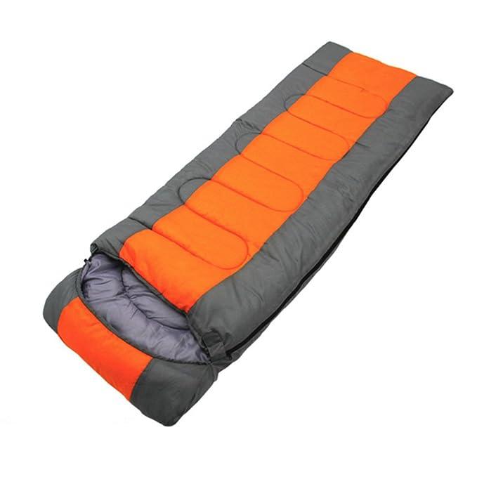 HM&DX Camping Saco De Dormir Rectangular Adultos 4-Seasons Impermeable Algodón Bolsa De Dormir Saco De Compresión Hiker Mochilero Viajar Actividades Al Aire ...