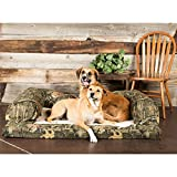 Bolstered Premium Dog Bed Removable Washable Mossy Oak Camo Taupe Fleece Dry Cover Orthopedic Foam Mattress Includes Our Exclusive Mousepad (Small)