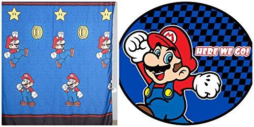Nintendo Simply Microfiber Shower Curtain