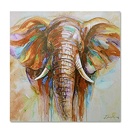 Canvas Print PaintingRaybre ArtR Animals Elephant Abstract Modern Oil Painting For Art Wall