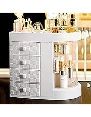 Beautiful and Practical Makeup Organizer Plastic Cosmetic Storage Display Drawer Cosmetic Storage Box Bedroom Dressing Table Makeup Organizer