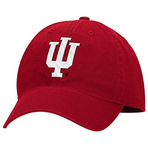 adidas Indiana Hoosiers NCAA Basic Logo Adjustable Slouch Hat - Red