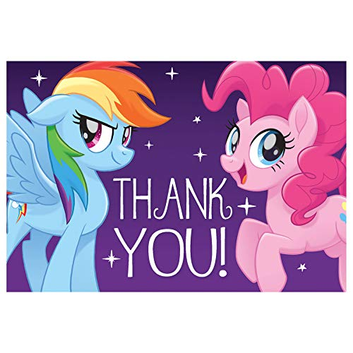 amscan My Little Pony Friendship Adventures Postcard Thank You Cards -