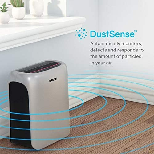 COSTWAY Ture HEPA Air Purifier Up to 540 Sq.Ft, Ionic Air Cleaner with Four Modes Timing Function, Sleep Mode and Manual Mode, Odor Eliminator for Allergies Smoke Dust White