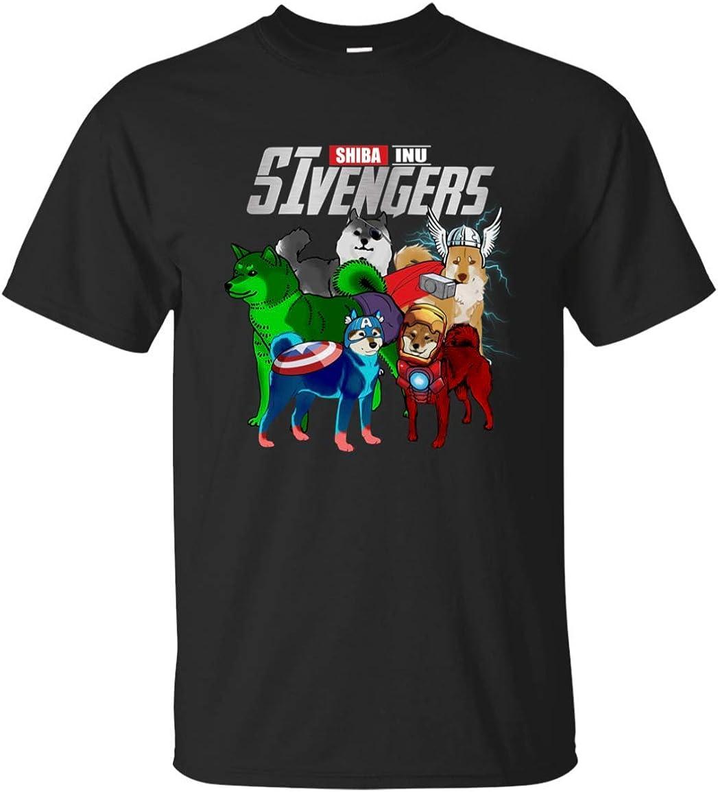 Custom Cosmos Funny Shiba Inu Dog Lovers SHIVENGERS T-Shirt