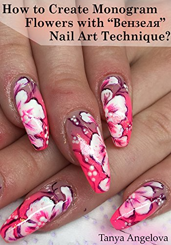 How To Create Monogram Flowers With Nail Art Technique