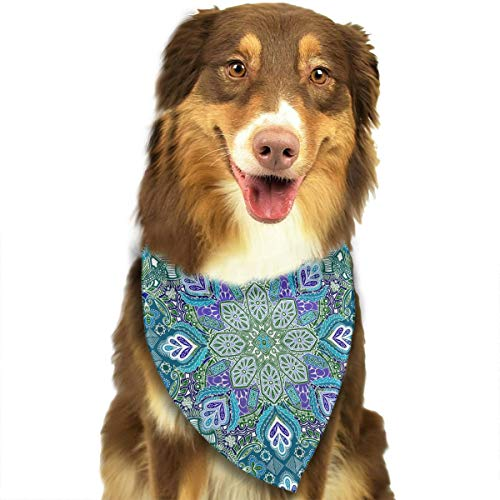 OURFASHION Gypsy Peacock Summer Mandala Doodle Pattern Bandana Triangle Bibs Scarfs Accessories for Pet Cats and Puppies]()