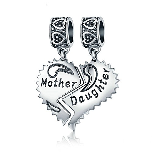 EyeCandy US Mother and Daughter 100% 925 Sterling Silver Love Forever Pendant Charms fit Bracelets Necklace Jewelry Making by EyeCandy US