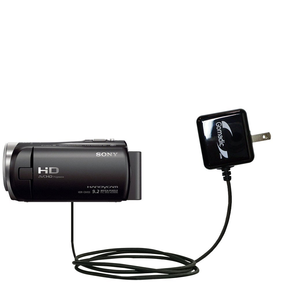 Gomadic高出力ホーム壁AC充電器Designed for the Sony hdr-cx455 / cx450 / cx485 with電源スリープテクノロジー – インテリジェントDesigned With Gomadic   B01GEV7IQC