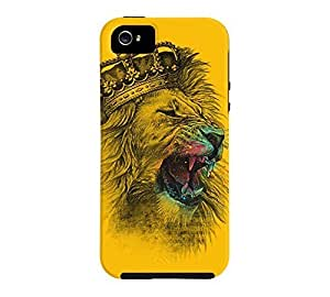 King Lion iPhone 5/5s Amber Tough Phone Case - Design By Humans