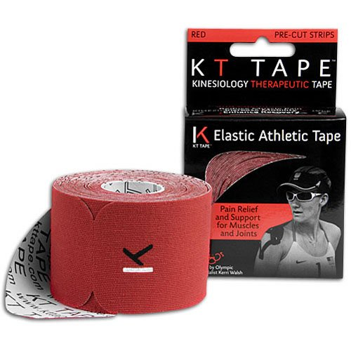 KT Tape Original Cotton Elastic Kinesiology Therapeutic Sports Tape, 20 Pre cut 10 inch Strips, ()
