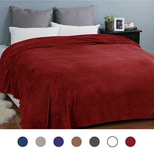 Flannel Fleece Luxury Blanket Red Queen(90