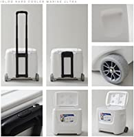 Igloo Coolers Marine Breeze Ultra Roller Nevera Portátil, Blanco ...
