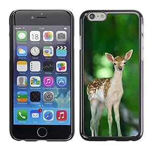 Caucho caso de Shell duro de la cubierta de accesorios de protección BY RAYDREAMMM - iPhone 6 - Feliz lindo del cervatillo de los ciervos