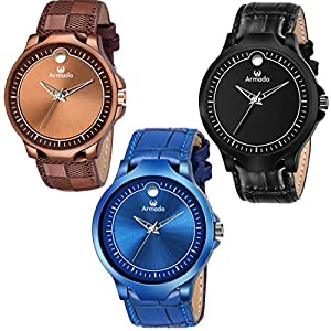 ARMADO AR- B1 B2 B3 WATCH OF 3 Analog Watch For Boys and Men
