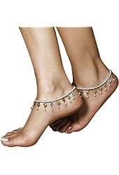Susenstone® Womens Beach Foot Pearl Bead Jewelry Anklet Chain Tassel