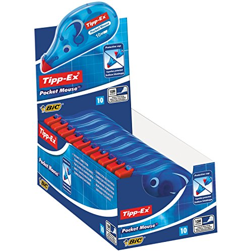 Tipp Ex Pocket Mouse Correction Tape 4.2mm x 9m - Display Box of 10