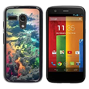 "Pulsar Snap-on Series Teléfono Carcasa Funda Case Caso para Motorola Moto G ( 1st Generation ) , Rainbow Awe Inspiring Naturaleza Dios"""