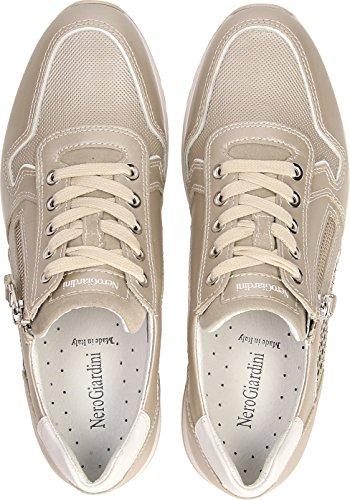 Bianco Scarpe P805241D Pelle Estate Giardini Savana Savana Navy Nero Blu Sneakers 2018 Primavera o Donna Beige in gHxxwv8Czq