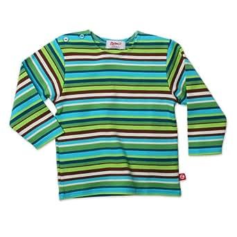 Zutano Unisex Baby  Multi Stripe Long Sleeve T Shirt, Chocolate, 24 Months