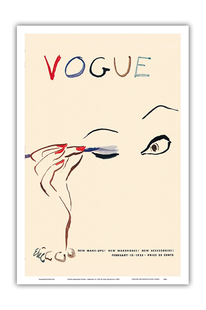 12in x 18in February 15 Vogue Magazine Cover Master Art Print Vintage Magazine Cover by Carl Erickson c.1935 1935