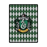 Fashion Press Creative Blanket Harry Potter Hogwarts Slytherin Logo Design 50 x 60 Inch Fleece Blanket Sheet Throw Bedding Blanket Fleece Throw