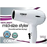 Conair 1875 Watt Mid-Size Styler Hair Dryer, White Review and Comparison