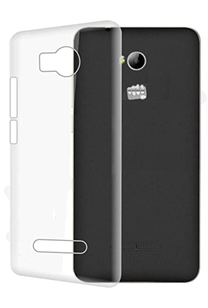 Johra Transparent Soft Back Case Cover for Micromax Canvas Spark 3 Q385 Cases   Covers