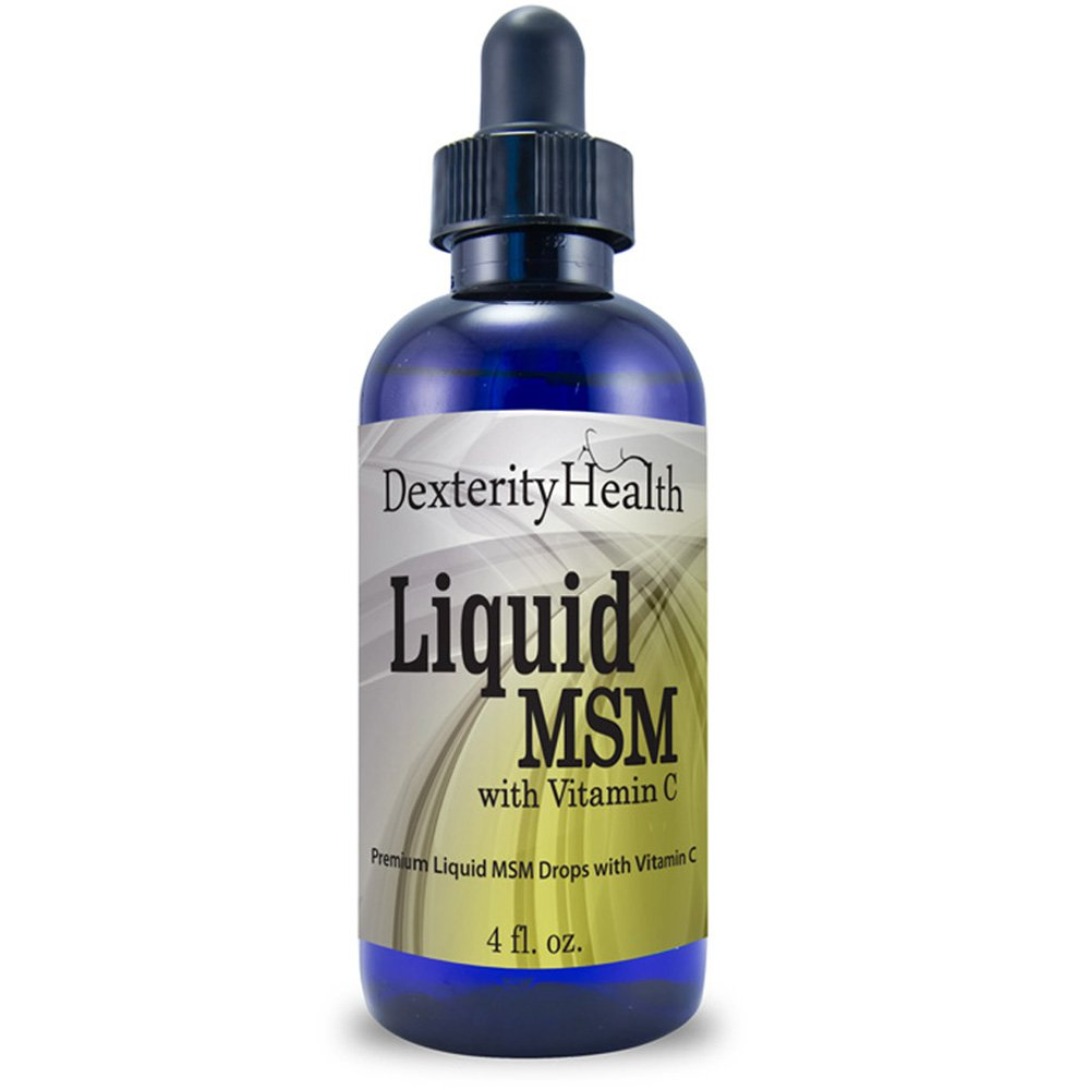 Liquid MSM Drops | 4 oz. Dropper-Top Bottle | 100% Sterile | Safe, All-Natural, and Non-GMO | Contains Organic MSM | With Vitamin C as a Natural Preservative | Supports All-Natural Eye Care