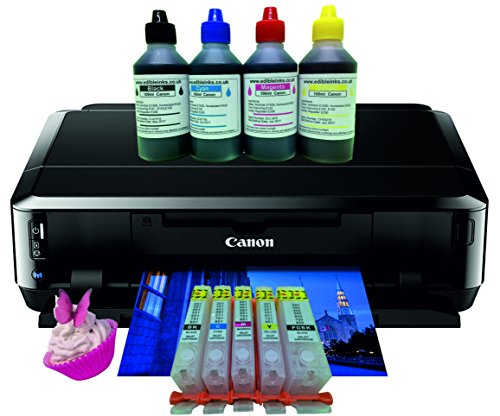 Edible Printer kit - Canon IP7250 A4 Printer with Refillable Ink Cartridges...