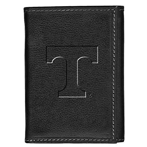 Carolina Sewn Tennessee Volunteers Vols UT Leather Tri-Fold Wallet Black Trifold