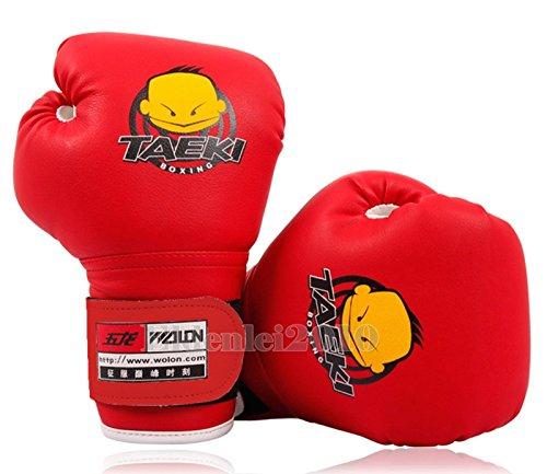 Bad Blood Costume Designer (New PU Kids Children Cartoon Sparring dajn Boxing Gloves Training 4oz Age 5-10 Red)