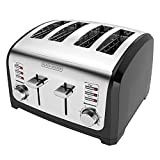 : BLACK+DECKER 4-Slice Toaster, Stainless Steel, T4030