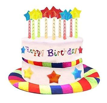 idealWigsNet Sombrero de Felpa Feliz cumpleaños Pastel ...