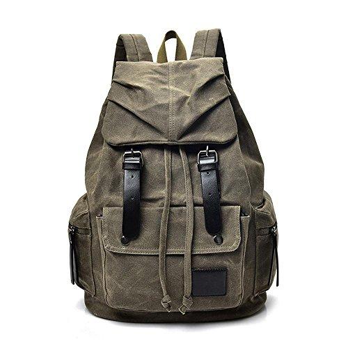 Aoligei Sac à dos de tourisme de plein air sport toile homme grande capacité Double sac à bandoulière loisirs Voyage sac masculines B