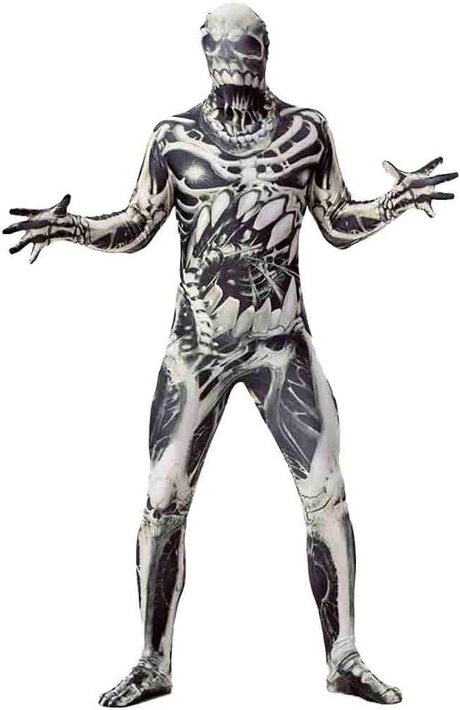 QQWE Horror de Halloween del Traje del cráneo del Fantasma del ...