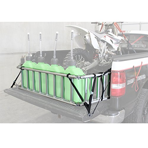 (Extreme Max (NR002S-SLVR) Motorcycle RampXtender Aluminum Ramp Set and Tailgate Extender Combo)