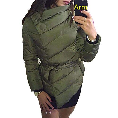 Juleya Imbottita Calda Invernali 4 Invernale Asimmetrico M Xxl Esterna Donna Del Giacca Cappotto Colori L Esercito S Verde Cappotti Donne Xl FxvtFwr