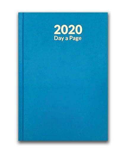 Agenda 2020 A5 de un día por página, tapa dura y marcador de ...