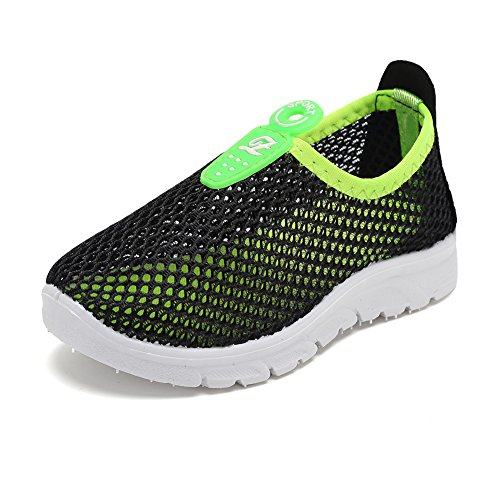 CIOR Kids Casual Shoes Breathable Slip-On Sneakers for Walking Running Toddler/Little Kid/Big Kid,D110,Black,36 by CIOR