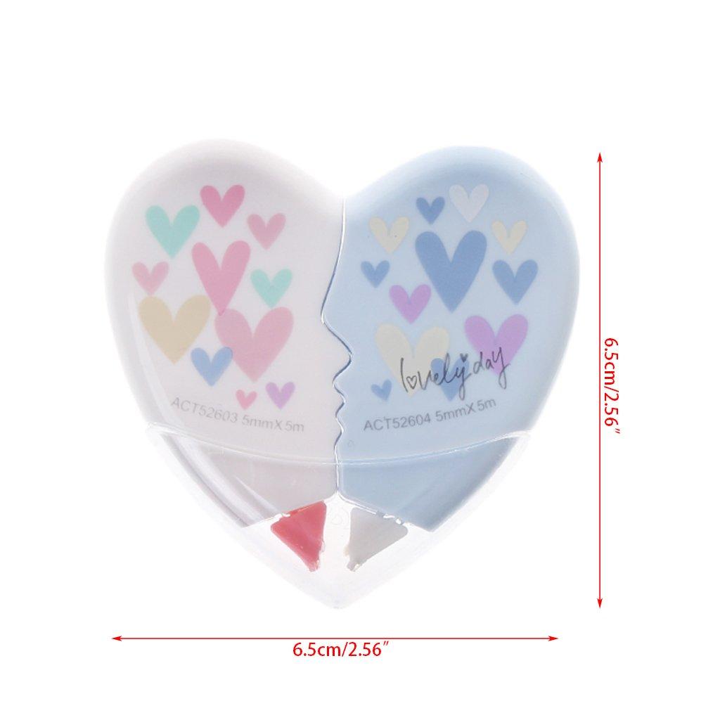 10m Heart Pattern Resistant Clear Easy Bambini Necessit/à di scrittura Modifica aiutanti Liangjunjun Correttore a nastro