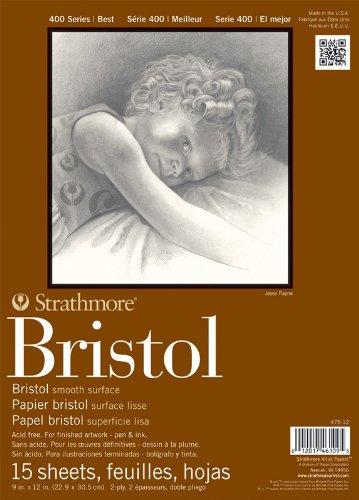 strathmore-str-475-12-15-sheet-bristol-plate-pad-9-by-12